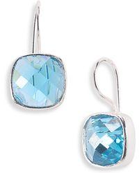 Nunu Designs Small Square Semiprecious Drop Earrings - Lyst