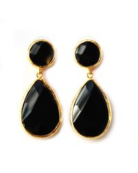 Toosis Black Onyx Faceted Teardrop Earrings - Lyst