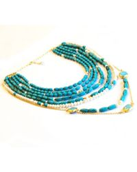 Toosis Long Turquoise Necklace - Lyst