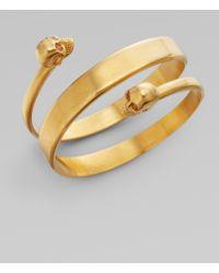 Alexander McQueen New Twin Cuff Bracelet/old Gold gold - Lyst