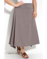 Allen Allen   Foldover Knit Skirt (plus)   Lyst