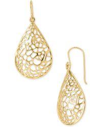 Argento Vivo Teardrop Dome Lace Earrings - Lyst
