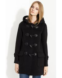 Burberry Brit Toggle Front Duffle Coat - Lyst