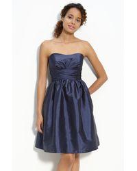 Eliza J Strapless Taffeta Dress - Lyst