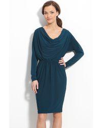 Maggy London Draped Jersey Dress - Lyst