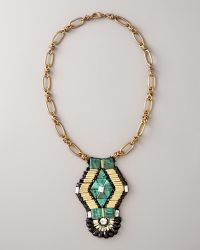 Ranjana Khan - Emerald-green Pendant Necklace - Lyst