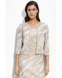 St. John Evening Rose Garden Metallic Jacquard Knit Jacket - Lyst