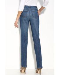 St. John Yellow Label Straight Leg Stretch Jeans blue - Lyst
