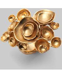 Saint Laurent Aco Flower Ring - Lyst