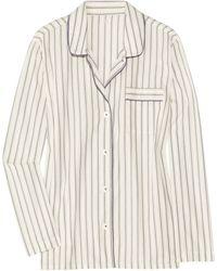 J.Crew Sleep-in Striped Cotton Pajama Top white - Lyst