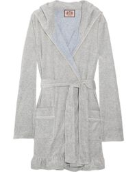 2c083d00e4 Juicy Couture - Hooded Cotton-blend Velour Robe - Lyst