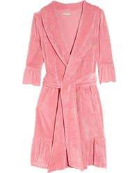 ad9c18b667 Juicy Couture - Ruffled Cotton-terry Robe - Lyst