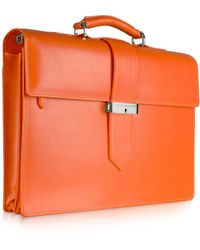 Giorgio Fedon -  Leather Double- Gusset Briefcase - Lyst