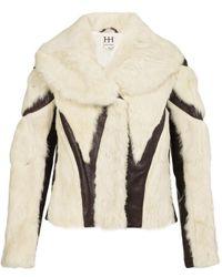 Haute Hippie Fur & Leather Jacket - Lyst