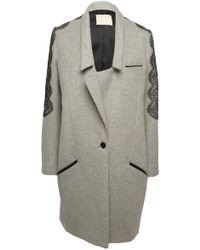 Jason Wu Richelieu A Lace-trim Coat gray - Lyst