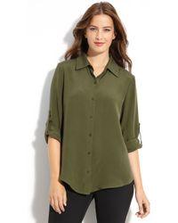 Louben Silk Shirt - Lyst