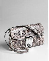 MICHAEL Michael Kors Jenna Small Flap Shoulder Bag - Lyst
