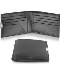 Pineider   Mens Black Calfskin Small Bifold Wallet   Lyst