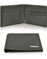 Roccobarocco - Dark Brown Signature Leather Billfold Card Holder Wallet - Lyst