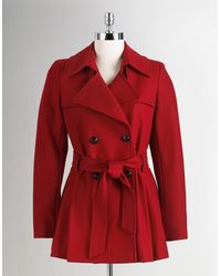 Via Spiga Double Breasted Cropped Trench Coat - Lyst