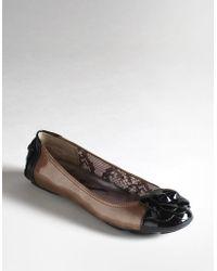 Ak Anne Klein Blondy Two-tone Patent Leather Flats - Lyst