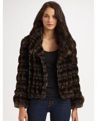 Milly Faux Fur Chubbie Coat - Lyst