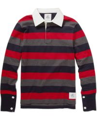 Black Fleece By Brooks Brothers - Striped Cotton Rugby Shirt - Lyst