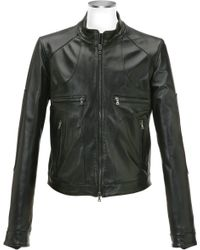 Forzieri Black Italian Leather Motorcycle Zip Jacket - Lyst