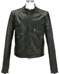 Forzieri Black Italian Leather Motorcycle Zip Jacket - Lyst
