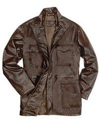Forzieri Men'S Dark Brown Italian Four-Pocket Leather Jacket - Lyst