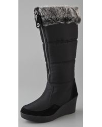 Juicy Couture - Ensley - Black Fabric Wedge Winter Boot - Lyst