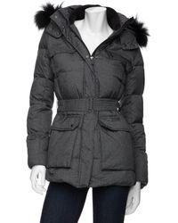 Add - Preorder Belted Fur Trim Hooded Parka Puffer Jacket - Lyst