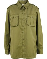 By Malene Birger - Milis Olive Shirt - Lyst