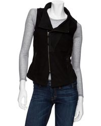 Improvd - Leather and Wool Vest - Lyst
