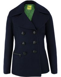 Paul by Paul Smith - Navy Peacoat - Lyst