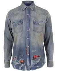 PRPS | Repair Denim Shirt | Lyst