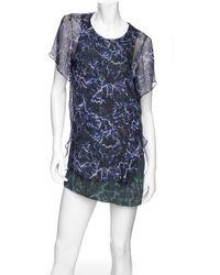 Theyskens' Theory - Marbelized Layer Dress - Lyst