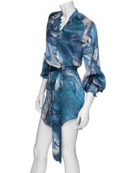Tribune Standard - Silk Mini Peasant Dress - Lyst