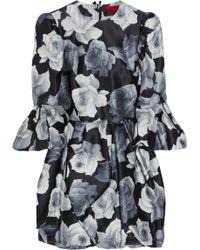 Lanvin Floral-print Cotton and Silk-blend Dress - Lyst