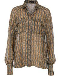 Suno Oversized Button Down Shirt - Lyst