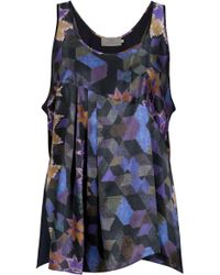 Preen By Thornton Bregazzi Carrie Printed Vest - Lyst