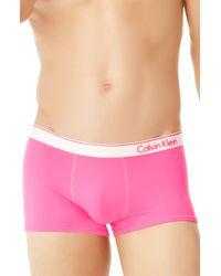 Calvin Klein Neon Low Rise Trunk Underwear - Lyst