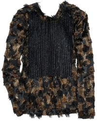 Marni Sequined Silk-blend Top brown - Lyst
