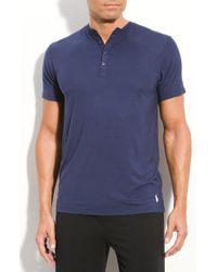 Polo Ralph Lauren Modal Henley Shirt - Lyst