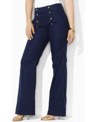 Lauren by Ralph Lauren Plus-size Fisher Wide-leg Sailor Pants - Lyst