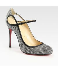 Christian Louboutin Roudounia Houndstooth Mary Jane Pumps - Lyst