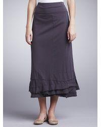 Sandwich - Long Jersey Skirt Chocolate - Lyst
