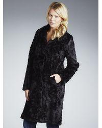 John Lewis - Women Faux Fur Coat Black - Lyst