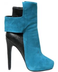 Aperlai 130mm Suede Stretch Calf Low Boots - Lyst