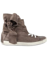 Cinzia Araia Suede and Calfskin High Top Sneakers - Lyst